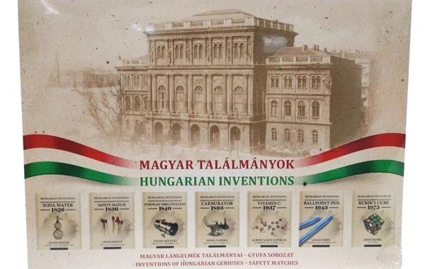 Magyar találmányok – gyufakészlet ajándék tollal