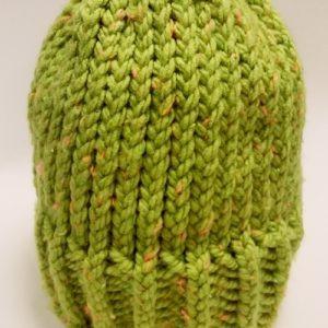 Cirmos fűzöld kötött sapka