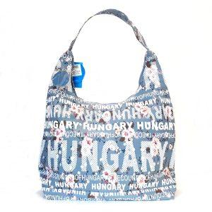 Hungary kék virágos táska
