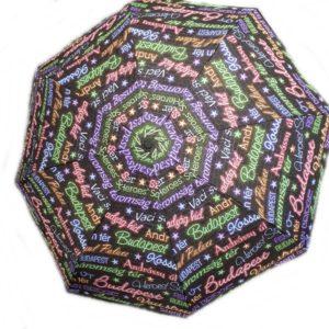 Összecsukható esernyő Budapest - látnivalókkal