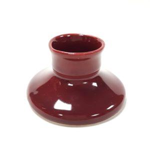 Kézműves kicsi gyertyatartó - bordó