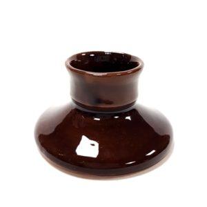 Kézműves kicsi gyertyatartó - barna