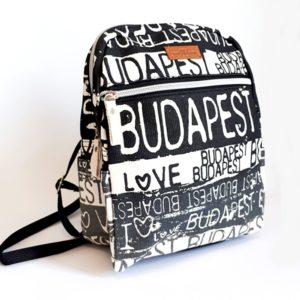 Budapest Art - kis hátizsák, fekete
