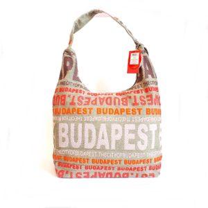 Budapest válltáska gyöngyvászon -P