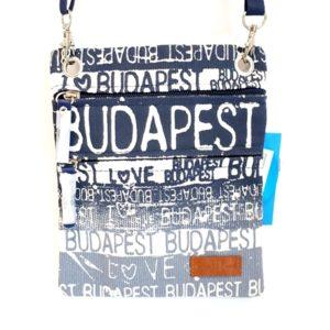 Útlevéltáska Budapest Art kék