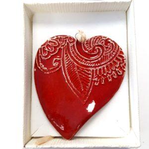 Kézműves kerámia szív közepes1